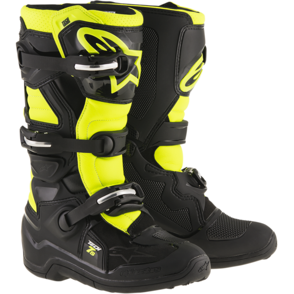 Tech 7s black yellow flo